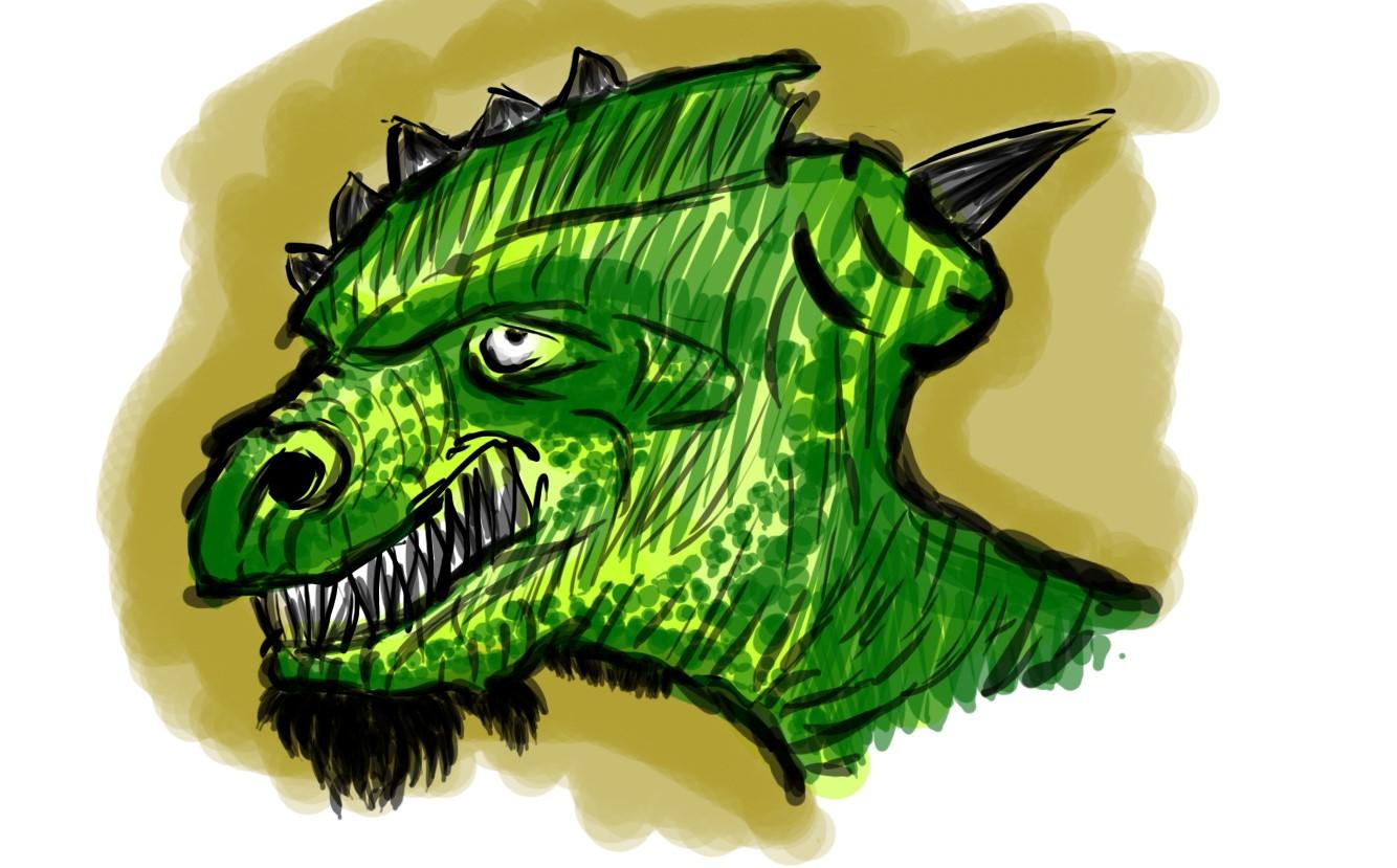 Dragon-Man Face