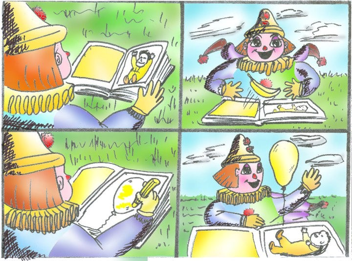 Storyboard - magic clown